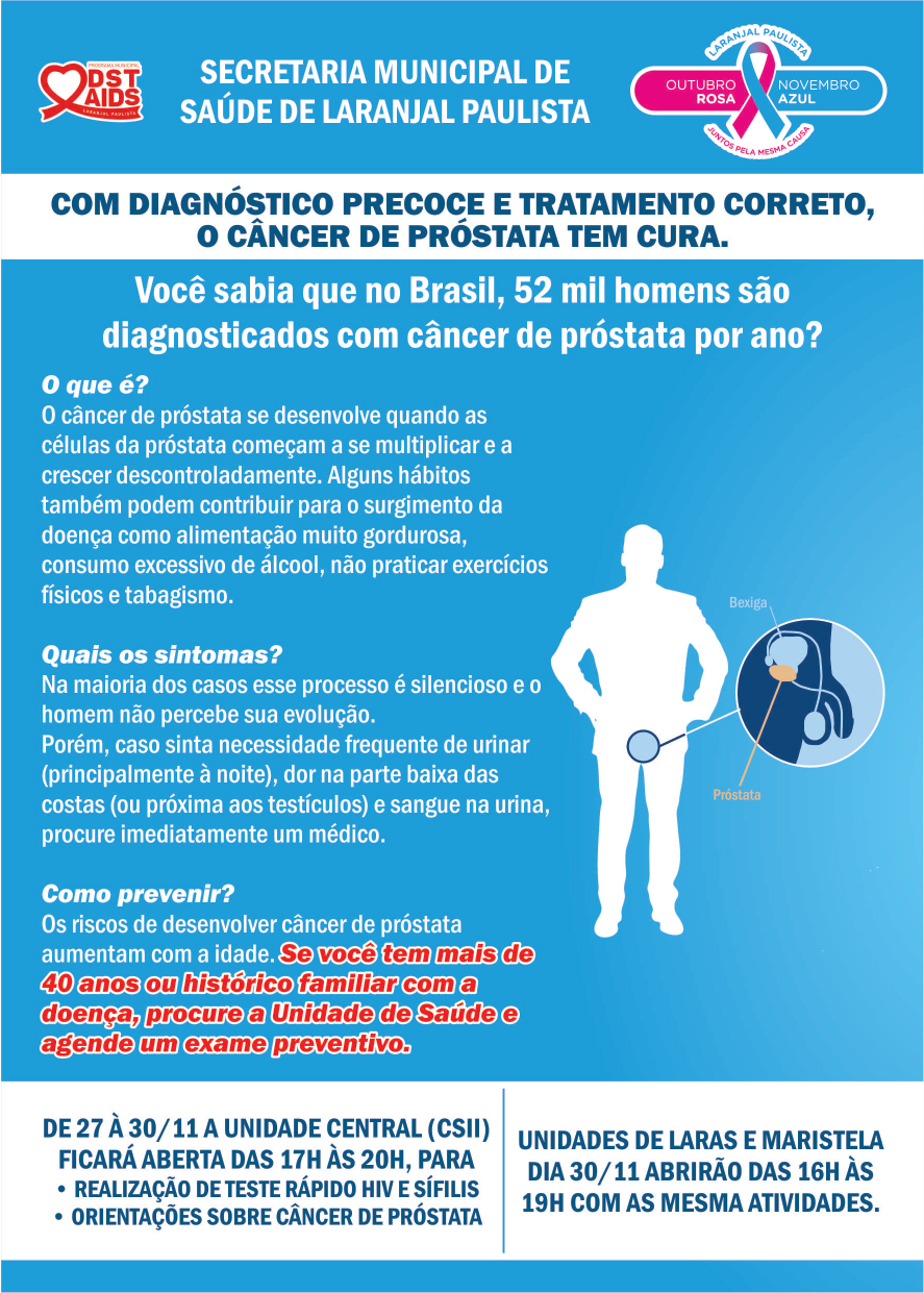 Laranjal Paulista em prol as campanhas Outubro Rosa e Novembro Azul - Juntos pela mesma causa.