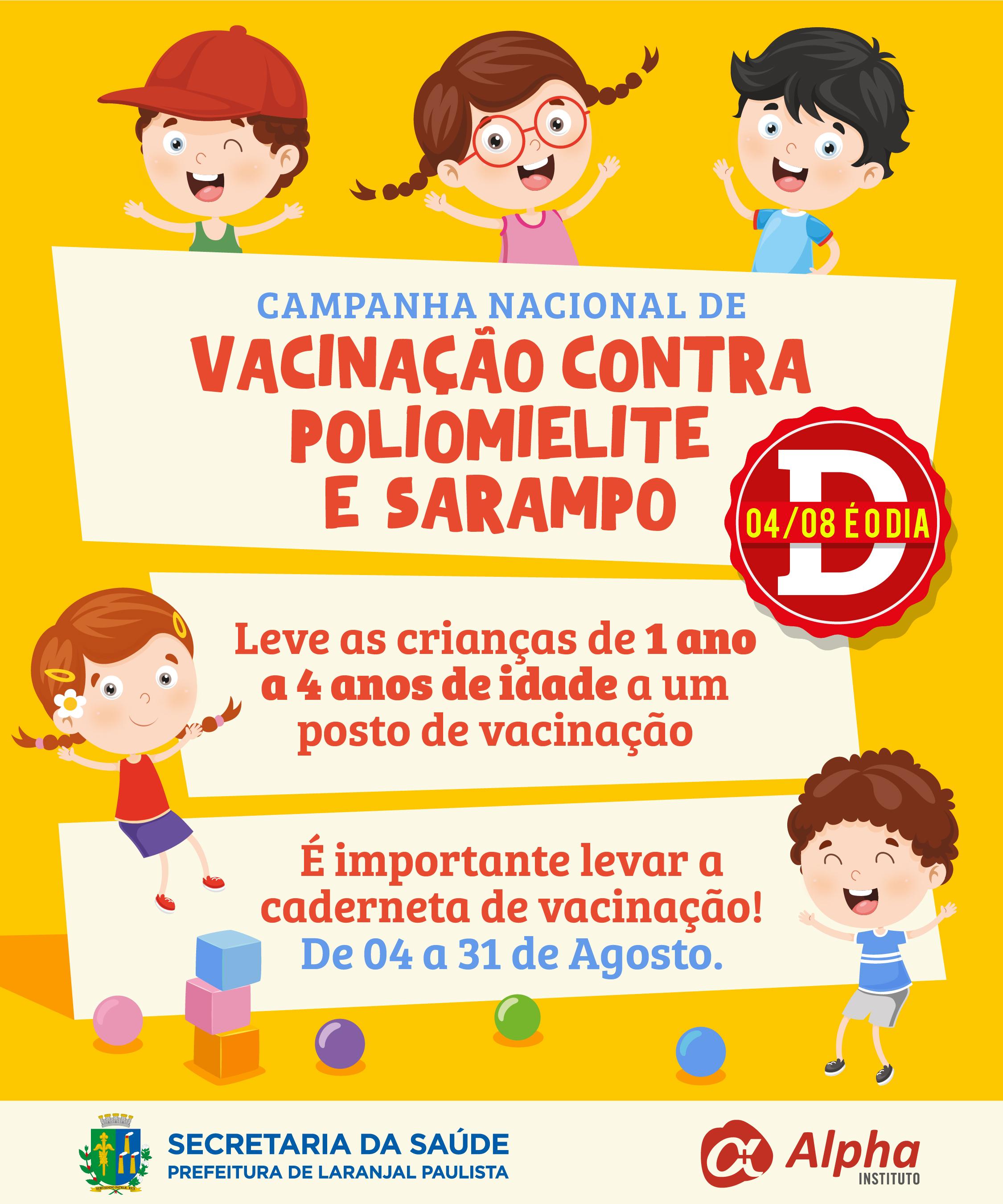 Campanha de Vacinação contra Poliomielite e Sarampo 2018