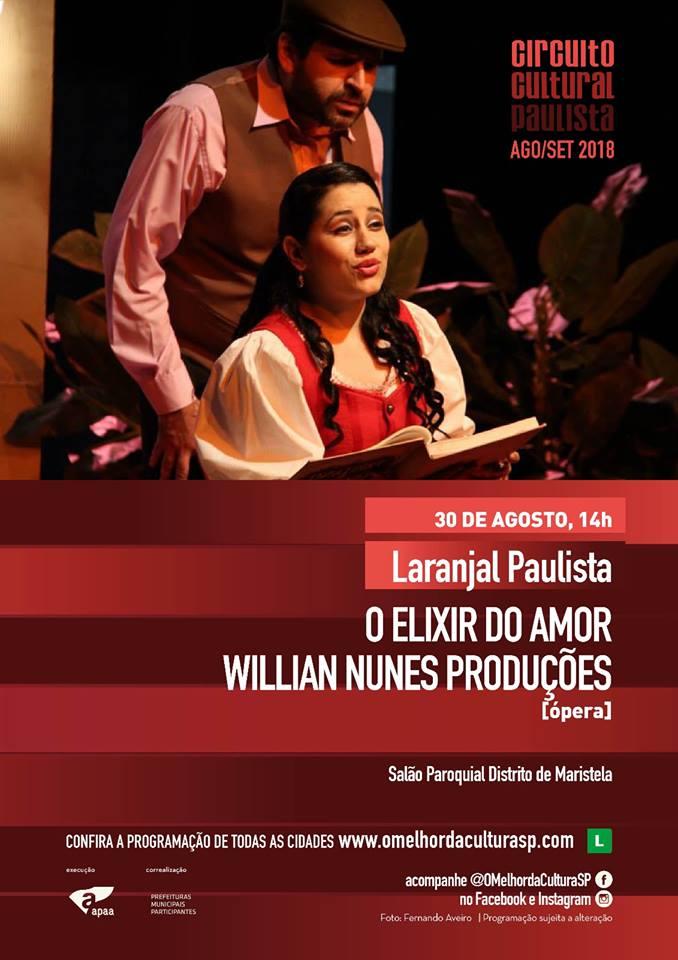 Laranjal Paulista no Circuito Cultural Paulista 2018