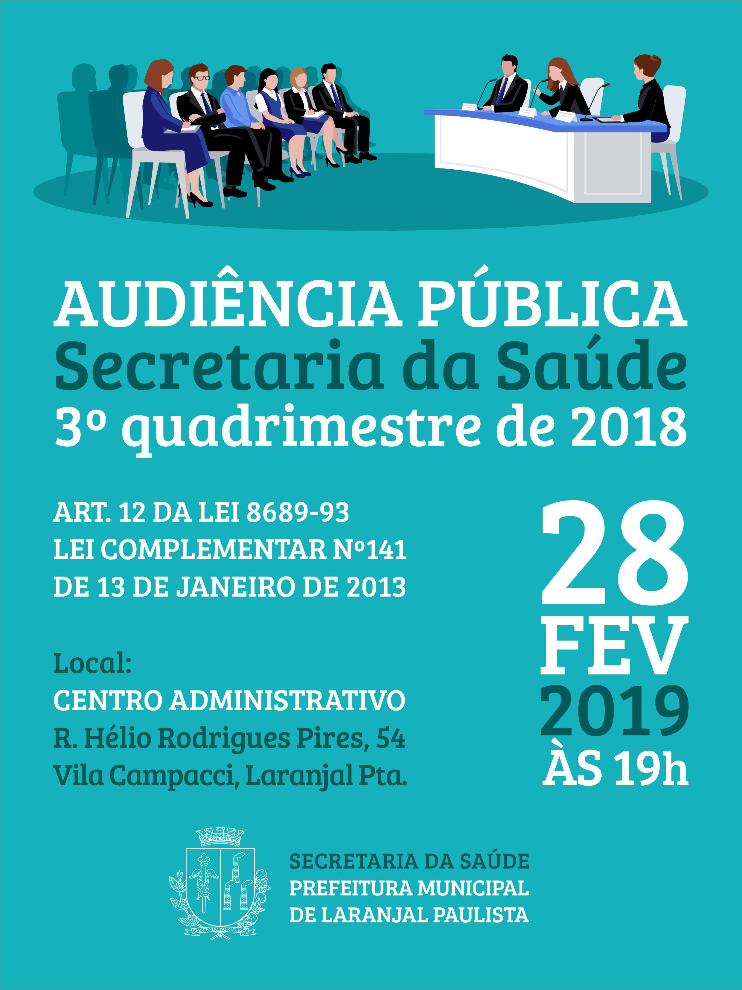 CONVITE - Audiência Pública Secretaria da Saúde