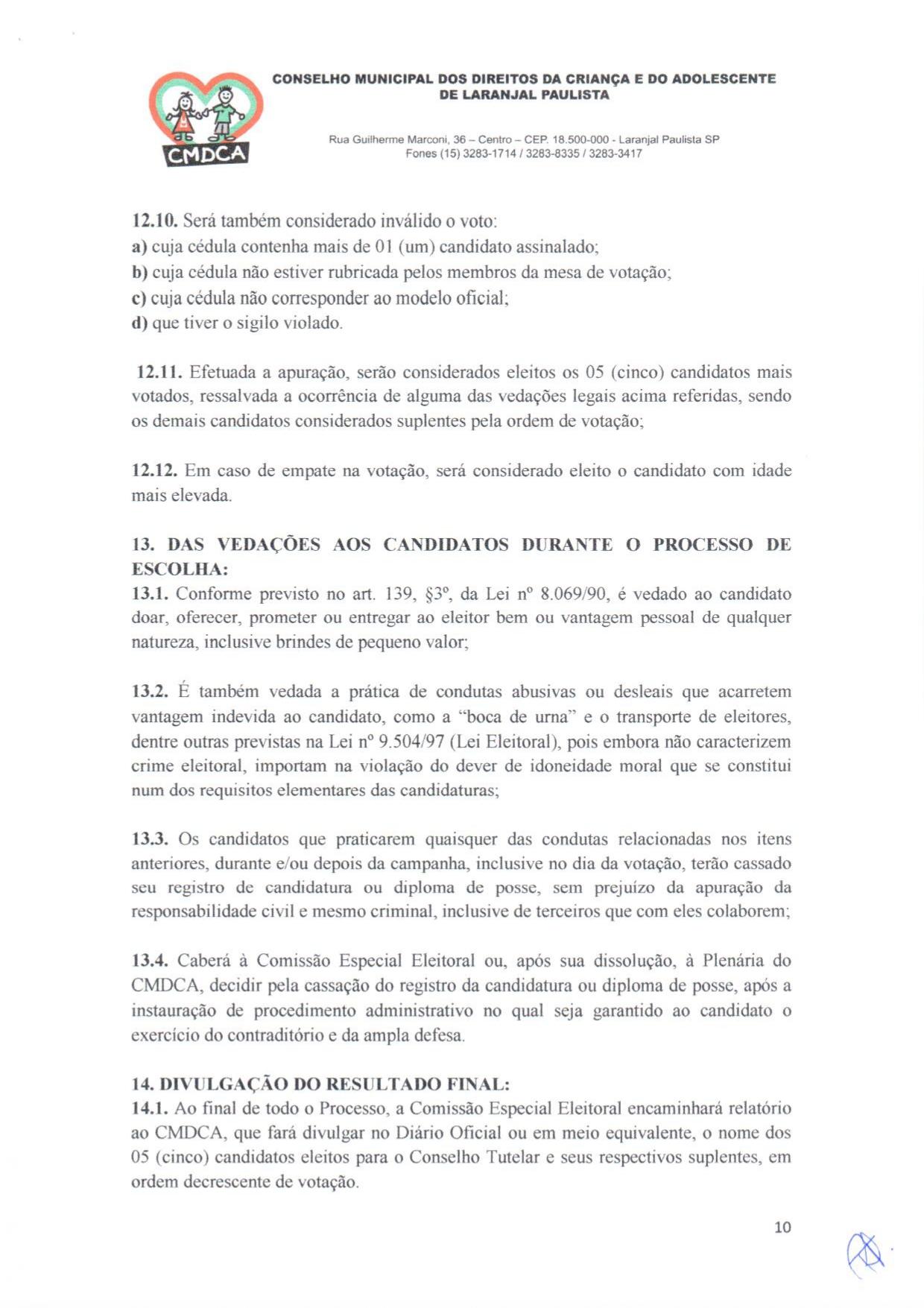 Eleições Unificadas para o Conselho Tutelar - Edital - CMDCA - nº 01/2019