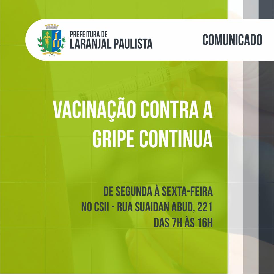 Vacinação contra a gripe continua