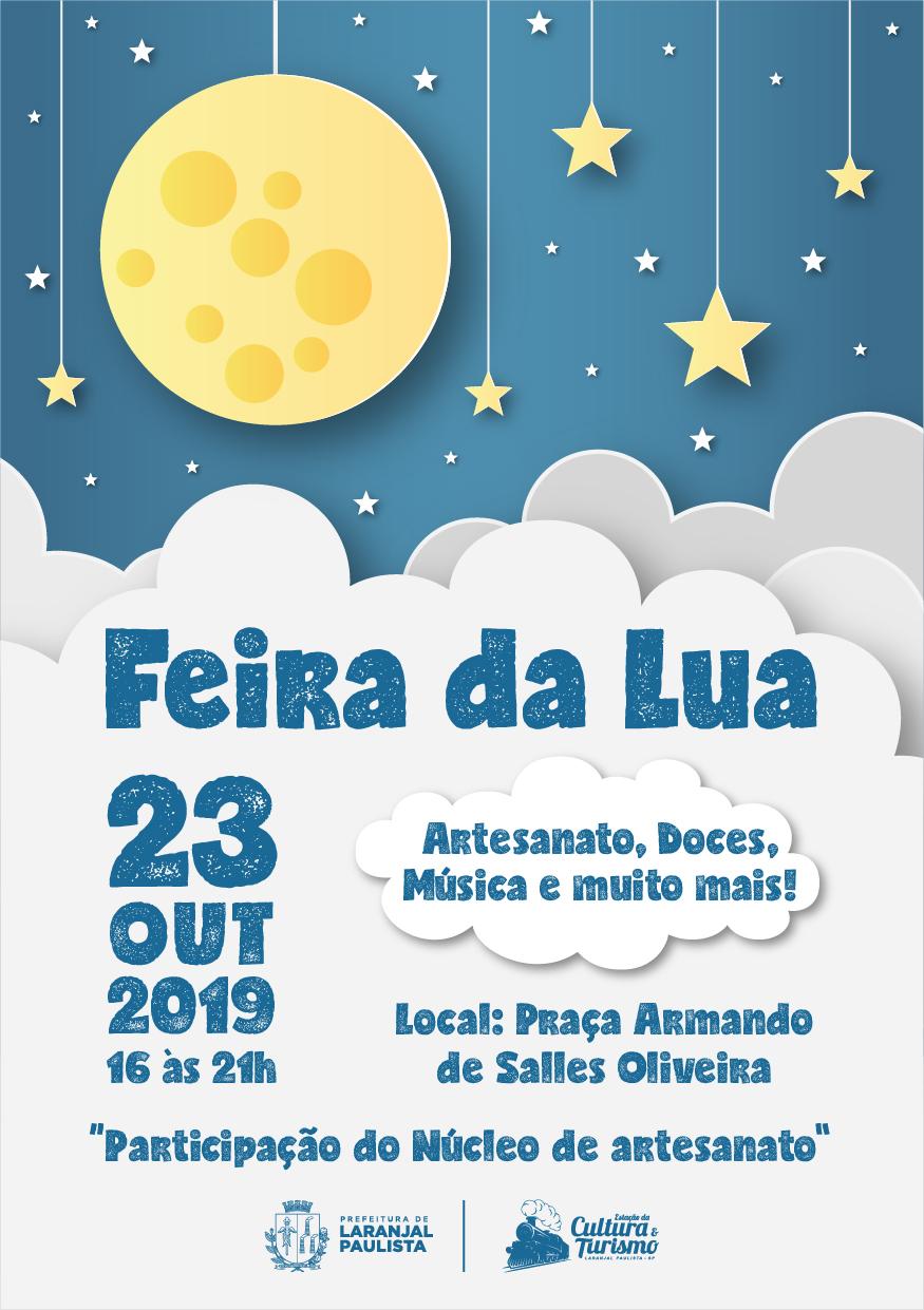 Quarta-feira, 23, será realizada mais uma edição da Feira da Lua.