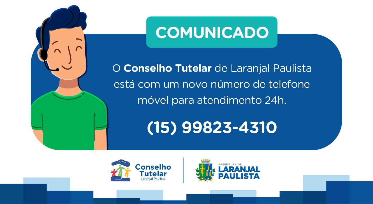 COMUNICADO - Conselho Tutelar de Laranjal Paulista