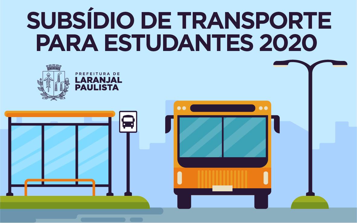 Subsídio de transporte para estudantes 2020